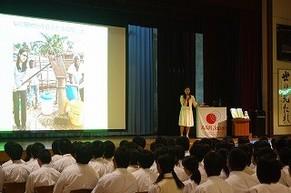 後藤由布子さん(卒業生)の講演