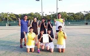 中学テニス、男女とも大健闘