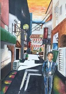 風景画で三宅さん、銀賞受賞