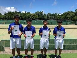 宮崎県中学校総合体育大会、男女硬式テニス部が大健闘!