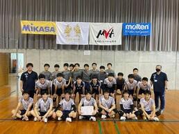 高校男子バレーボール部、天皇杯・皇后杯(県ラウンド)で優勝!